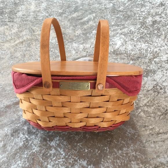 Longaberger Christmas Basket.Longaberger Christmas Collection Basket